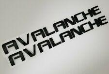2pc black Avalanche FIT Chevy Door trunk liftgate EMBLEM NAME BADGE 07 08 09-13