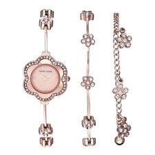 Brandnew authentic Anne Klein ak/3182rgst  Swarovski Crystal Rose Gold watch set