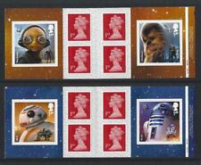 GREAT BRITAIN 2017 STARWARS S/A PAIR OF CYLINDER BOOKLETS  UNMOUNTED MINT, MNH