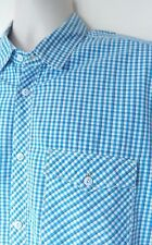 MENS LEVI SHORT SLEEVED SHIRT SZ L IN EXCELLENT CONDITION! BLUE/ WHITE/ WESTERN