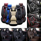 Leather Car Seat Cover Waterproof Universal 5 Seats Full Set Front Back Covers <br/> Best quality / Worth Price  / Adjustable Bench Length /