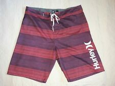 Men's Hurley Board Swim Shorts, Size 36 - Red/Blue