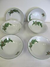 BAVARIA W GERMANY SELTMANN WEIDEN BOWLS CHRISTMAS HOLIDAY HOLLY BOWLS (6)