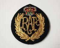 Genuine British Royal Air Force RAF Issue Braided Insignia Cloth SD Hat Badge 1