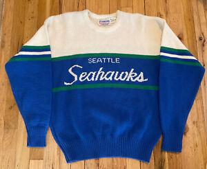 RARE Vtg Seattle Seahawks NFL Authentic Pro Line Cliff Engle Sweater Sz L New