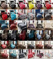 4Pcs Complete Bed Set Duvet Cover Fitted Sheet & Pillow Cases Bed Linen Set CM21