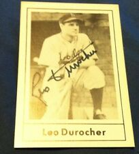 Leo Durocher Autograph Card With COA