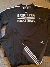 "New Authentic NBA Adidas Climawarm Sweatsuit Black Size 2XLT +2"" Length"