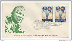 Philippines FDC 1960 Eisenhower Visit First Day Cover Sc# 823 824