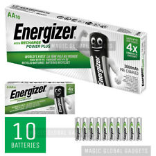 10 x ENERGIZER AA 2000mAh AAA 700mAh RECHARGEABLE POWER PLUS BATTERIES NiMH PRE