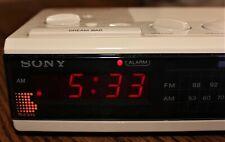 Vintage SONY DREAM MACHINE FM/AM Digital Alarm Clock Radio ICF-C3W Beige Sticker