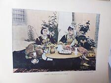 ALGERIE: Gravure 19° in folio couleur /MAURESQUES (CITADINES) DE BLIBAH