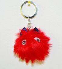 Süße Maus Anhänger Fell Bommel Schlüssel/Tasche 5 cm Schlüsselanhänger 9 Farben