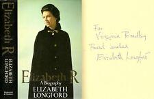 Elizabeth (Countess of) Longford - Elizabeth R - Signed - 1st/1st