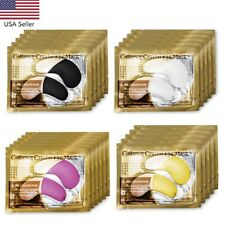 USA 20Packs Gold Crystal Collagen Eye Mask Patch Pad Anti Aging Dark Circle Bags