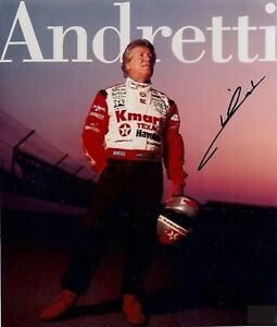 Mario Andretti Autographed Signed 8x10 Photo ( HOF ) REPRINT