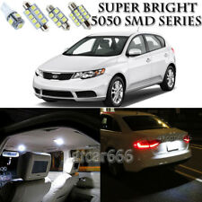 For Kia Forte 2010-2013 Xenon White LED Interior Light kit + License Light 8PCS
