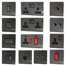 Black Nickel Screwless Flatplate Light Switches & Plug Sockets