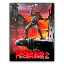 Predator 2 Película De Placa Letrero De Metal Película Póster Mancave sala de cine de Decoración