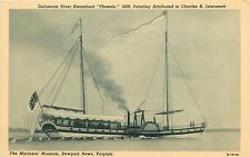 Delaware River Steamboat Phoenix Mariners Museum Newport News Virginia Postcard
