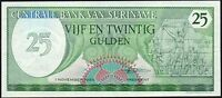 1985 SURINAME 25 GULDEN BANKNOTE * gVF * P-127b *