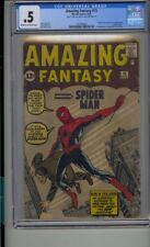 AMAZING FANTASY #15 CGC .5 ORIGIN 1ST APP OF SPIDER-MAN LOOKS 2.5