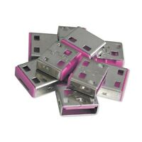 Lindy USB Port Blockers/Locks (without key) -Pack of 10, Colour Code: Pink 40460