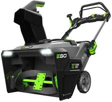 Outdoor Cordless Electric Snow Blower Single Stage Lithium Ion 56 Volt 21 Inches