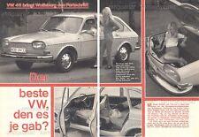 Volkswagen Typ 4 VW 411 - Original Test von 1968