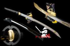 BATTLE READY 117CM JAPANESE MUSASHI TSUBA NAGINATA KATANA QUENCHED OIL L6 STEEL