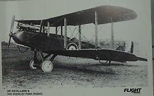 Flight International Photo De Havilland 9 Royal Air Force  Postcard
