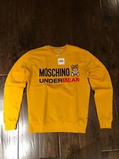 Moschino Yellow Underbear Logo SweatShirt EU Large (Dustbag Included)