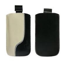 Ledertasche schwarz und b beige Samsung i8000 omnia 2 + Sony Ericsson Satio