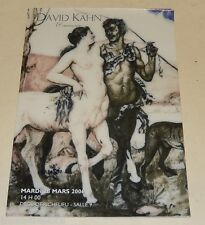 Catalogue de Ventes David KAHN & Associés Mars 2006 - Tableaux - Jouets - Art
