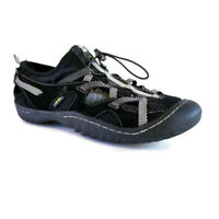J41 Jeep Womens Sz 7.5 Black Slip On Water Trail Running Hiking Athletic Shoes