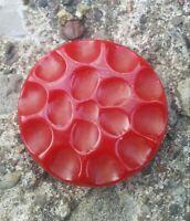 Vintage Red Dimple Bakelite Button.