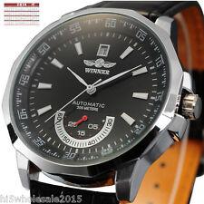 Luxury Skeleton Automatic Mechanical Mens Leather Wrist Watch Gentlemen Design
