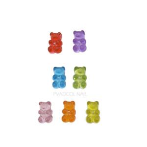 Jelly Gummy Bear Nails Decoration For Kawaii Press Luxury 3D Nail Rhinestones