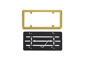 Front Bumper License Plate Mount Bracket + GOLD Frame for NISSAN FREE SHIPPING