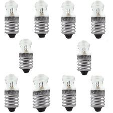 E10 Fernsichtbirnchen Glühlampe Ersatzlampe Birnchen, 10 x 3,7V / 0,3A
