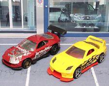 2 x Hot Wheels 24/seven & Super Tsunami 1:64 Scale Die-cast Model Toy Car Used