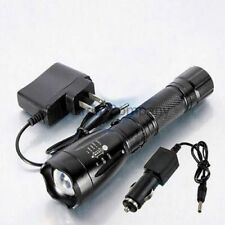 Tactical LED Flashlight XT808 Torch w Charger Lt600 Gladiator Military Style