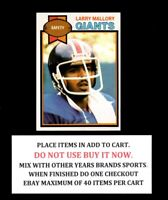 1979 TOPPS FOOTBALL 1 TO 200 CLEAN EX-MINT OR BETTER - SELECT FROM LIST