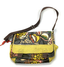 Fossil Key Per Coated Canvas Floral Messenger Laptop Bag Handbag ZB5015