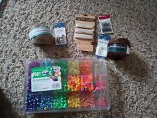 Jewelry Making assortment findings hemp beads clamps parts lot craft string