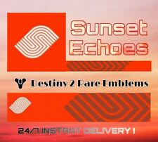 Destiny 2 Sunset Echoes emblem CODE IN HAND! INSTANT DELIVERY! (PS4/Xbox One/PC)