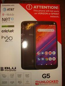 "BLU G5 (32GB) 13MP 5.5"" Smartphone (UNLOCKED)- BLACK- BRAND NEW & SEALED!!!"