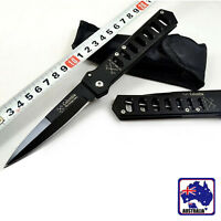 Foldable Liner Lock Pocket Knife Black Camping Hiking Survival Knives OKNIF8895