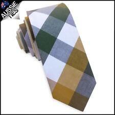 Yellow, Grey & White Diamonds Skinny Tie