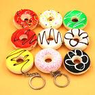 Simulation Donuts Dessert Key Chain Ring Keyring Charm Pendant Purse Keychain